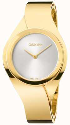 Calvin Klein Damen Edelstahl analoge Uhr des Quarzes K5N2S526