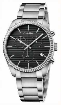 Calvin Klein Mens Alliance Silver Chronograph K5R37141