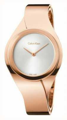 Calvin Klein Frauen stieg goldene Uhr K5N2S626