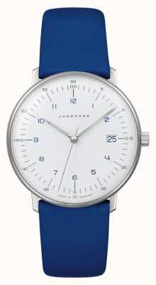 Junghans Max Rechnung Dame Quarz | blaues Lederband 047/4540.04