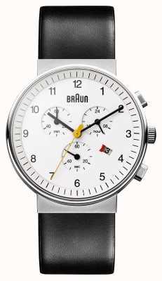 Braun Unisex klassische Chronograph BN0035WHBKG