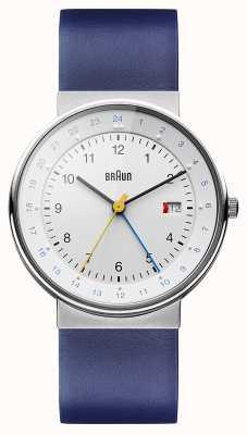 Braun Unisex classic Dualzeit-Uhr BN0142WHBLG