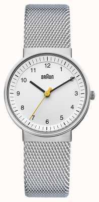 Braun Damen Silber weiße Uhr BN0031WHSLMHL