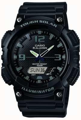 Casio Mens fünf Alarmsolarbetriebene Beleuchtungs schwarz AQ-S810W-1A2VEF