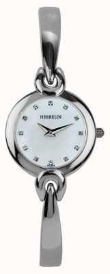 Michel Herbelin Damen Edelstahlgehäuse, Perlmutt 17001/B59
