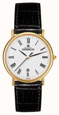 Michel Herbelin Gents Citadines Leder strapwatch 12443/P01