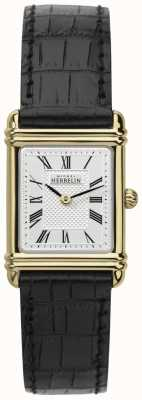 Michel Herbelin Damen Lederband Gold Ton Fall römische num 17478/P08