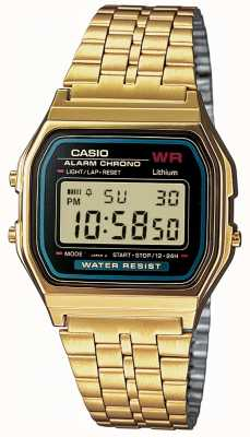 Casio Herren digital retro vergoldet A159WGEA-1EF