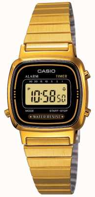 Casio Damen Digital Armband Retro vergoldet LA670WEGA-1EF