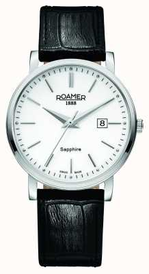 Roamer Klassische Linie | schwarzes Lederband | weißes Zifferblatt 709856-41-25-07