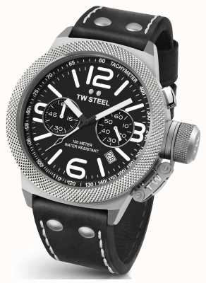 TW Steel Gents Kantine 45mm Chrono schwarzes Lederarmband CS3