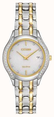 Citizen Damen Eco-Drive 30 Diamant mit zwei Tönen GA1064-56A