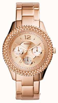 Fossil Ladies stella rose gold PVD beschichtet ES3590