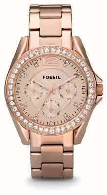 Fossil Ladies riley Roségold PVD beschichtet ES2811
