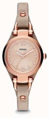 Fossil Ladies Georgia Rose gold PVD beschichtet Leder ES3262