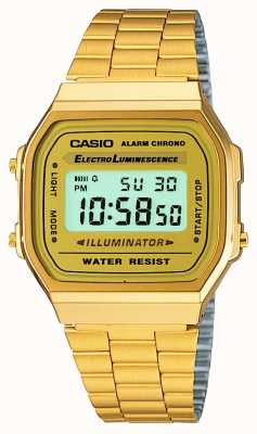 Casio Unisex vergoldet retro digitale Sammlung A168WG-9EF