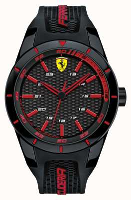 Scuderia Ferrari Red rev schwarz silikon strap schwarz rot Zifferblatt 0830245