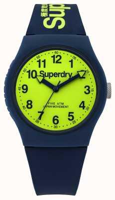 Superdry Gents städtischen blauen Gummiband grün Wahl SYG164UN