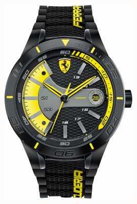 Scuderia Ferrari Red rev evo schwarz silikon schwarz gelb Zifferblatt 0830266