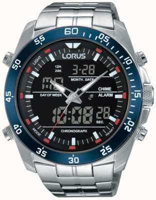 Lorus Mens Dualzeit Edelstahl RW623AX9
