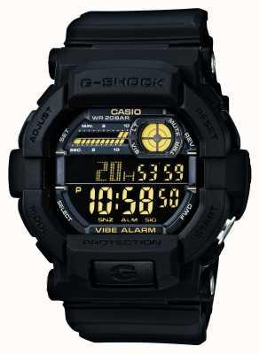 Casio G-Schock Vibrations 5 Alarm-Uhr schwarz gelb GD-350-1BER