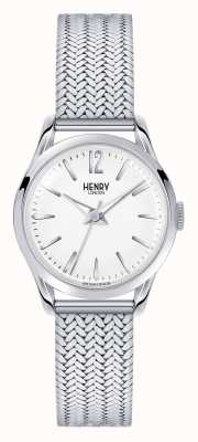 Henry London Edgware Edelstahlgewebe weißes Zifferblatt HL25-M-0013