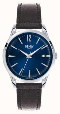Henry London Knightsbridge blaues Zifferblatt - wie im Fernsehen gesehen HL39-S-0031