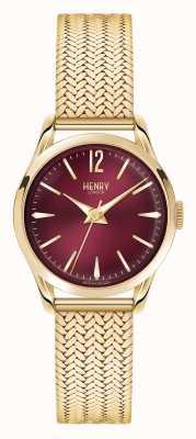 Henry London Holborn vergoldet Netz tiefrot Wahl HL25-M-0058