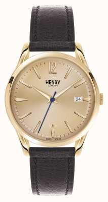 Henry London Westminster braunes Lederarmband Champagner HL39-S-0006