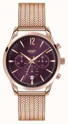 Henry London Hampstead rosé vergoldet Netz Chronograph HL39-CM-0088
