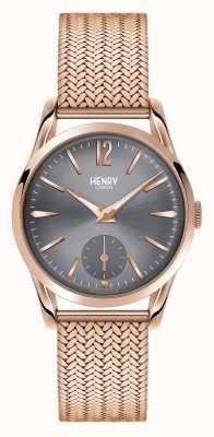 Henry London Finchley Roségold Netzzifferblatt grau HL30-UM-0116