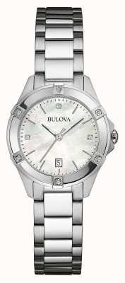 Bulova Frauen Edelstahl Diamant Silber dia 96W205