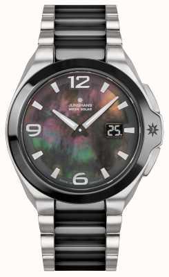 Junghans Spektrum lady | Edelstahl / schwarzes Armband 015/1500.44