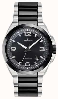 Junghans Spektrum automatisch | schwarz / silber edelstahlarmband | 027/1500.44