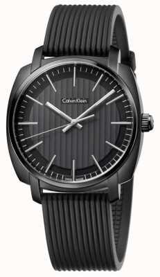 Calvin Klein Mens highline schwarzes Kautschukband Zifferblatt schwarz K5M314D1