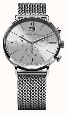 Maurice Lacroix Eliros Datum Chronograph Mesh Armband Silber EL1098-SS002-110-1