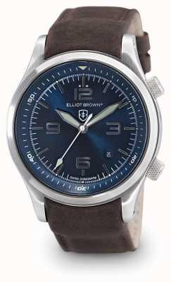 Elliot Brown Herren canford braunes Leder blaues Zifferblatt 202-007-L07