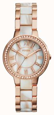 Fossil Womens virginia Roségold PVD beschichtet ES3716