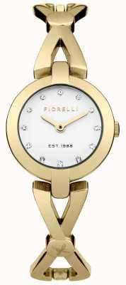Fiorelli Womens gold PVD beschichtet Zifferblatt silber FO003GM