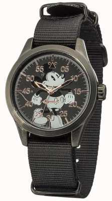 Disney By Ingersoll Mickey Maus-Uhr mit schwarzem Nylonband DIN008BKBK