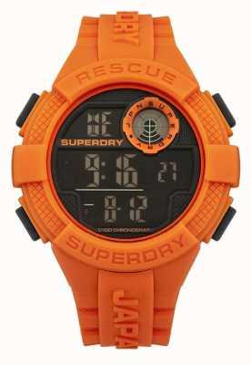 Superdry Mens Radar digital orangefarbene Gummiband SYG193O