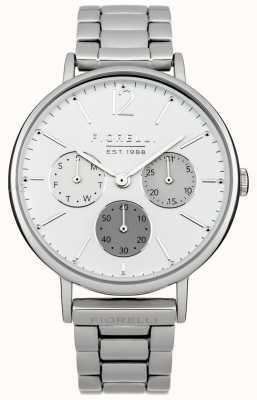 Fiorelli Der Frauen Silber Armband weißes Zifferblatt FO002SM