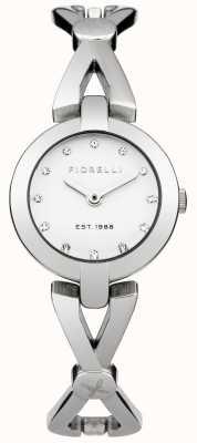 Fiorelli Der Frauen Silber Armband weißes Zifferblatt FO003SM
