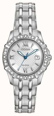 Citizen Eco-Drive 28 Diamanten Edelstahl EW2360-51A