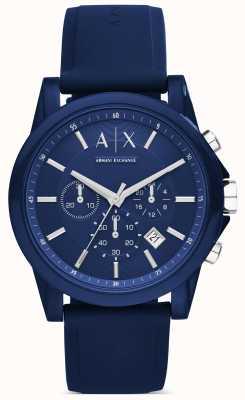 Armani Exchange Chronograph blau Silikon AX1327