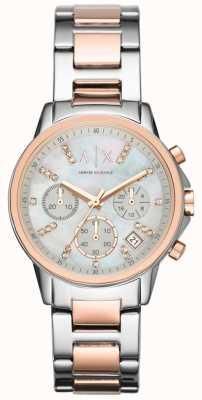 Armani Exchange Chronograph zweifarbige Armbanduhr AX4331