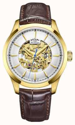Rotary Mens braunes Lederband co GS05035/03