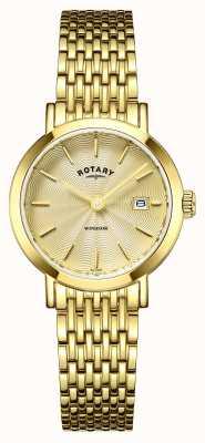 Rotary Damen Uhren windsor vergoldet LB05303/03
