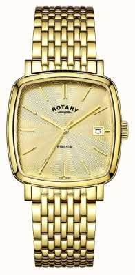Rotary Mens windsor Gold PVD beschichtet GB05308/03