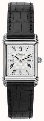 Michel Herbelin Damen esprit Art Deco schwarzes Lederarmband 17478/08